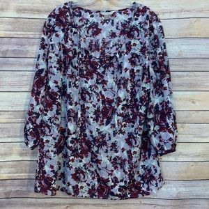 White Stag shades of purple floral blouse Sz XXL